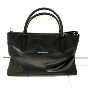 Coach Black Leather Crossbody/Satchel Tote